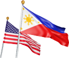 Philippines and USA Flag
